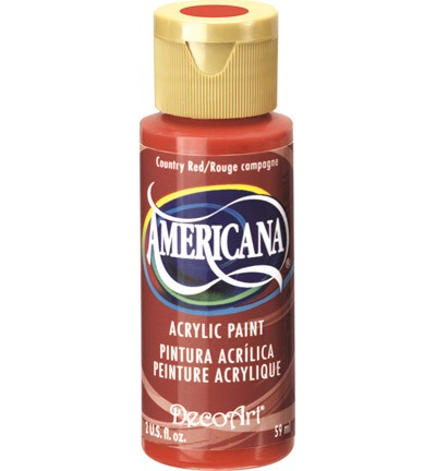 26124 Deco Art Americana 59 ML Acrylverf Country Red.