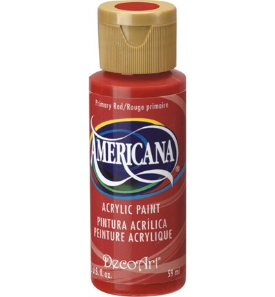 26127 Deco Art Americana 59 ML Acrylverf Primary Red (DA199).