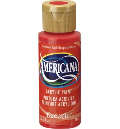 26166 Americana Acrylverf 59 ML Cadmium Red (DA015).