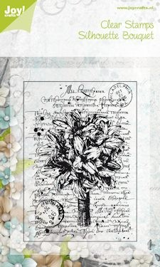 26242 Joy! Silhouette Bouquet Clearstamp 85x120 mm (6410/0046).