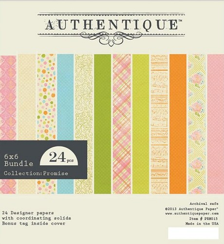 "26418 Authentique Promise Bundle Cardstock Pad 6""X6"" 24/Sheets."