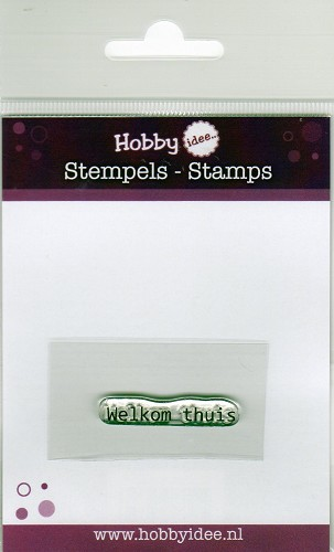 26645 Hobby Idee Clearstamp Welkom Thuis 4 cm.