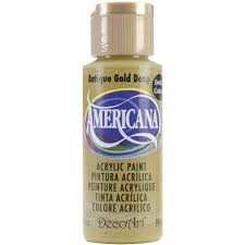 26752 Deco Art Americana Acrylverf 59 ML Antique Gold (DA09).