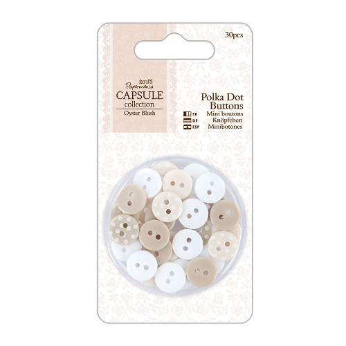 26933 Polka Dot Buttons (30pcs) - Capsule Collection - Oyster Blush.