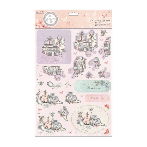 26948 A4 Decoupage Pack - Bellisima - Presents.