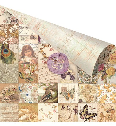 27072 Prima Marketing Princess Collection Double Sided Paper-Collage.