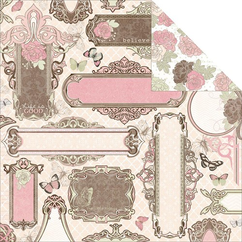 27142 Bo Bunny Primrose Garden Double Sided Paper.