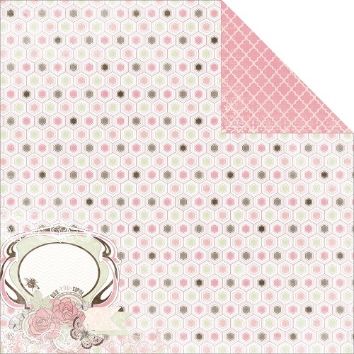 27145 Bo Bunny Primrose Time Washed Double Sided Paper.
