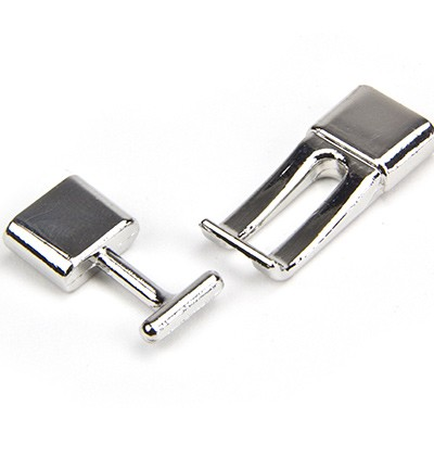 27227 Clasp - Platinum, 13x47mm(inside 2.5x9.5mm)1pc (12281-8101).