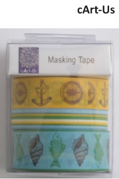 27514  cArt-Us Masking Tape 3x5m Assorted Ocean Paradise (S18492167).