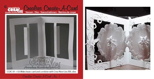 27678 Crealies Create A Card no. 1 stans voor kaart 10,5 cm x 29,8 cm / CCAC01.