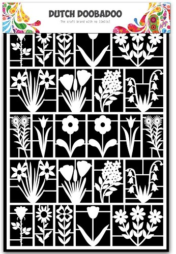 27756 Dutch Doobadoo Dutch Paper Art Bloemen A5.