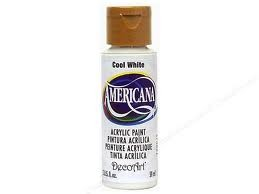27844 Deco Art Americana Acrylverf 59 ml Cool White (DA240).