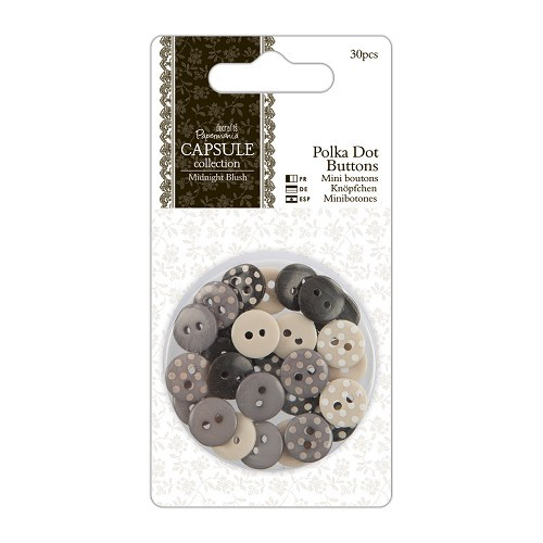 27879 Polka Dot Buttons (30pcs) - Capsule Collection - Midnight Blush.