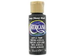 28001 Deco Art Acrylverf Americana 59 ML. Lamp (Ebony) Black (DA067).