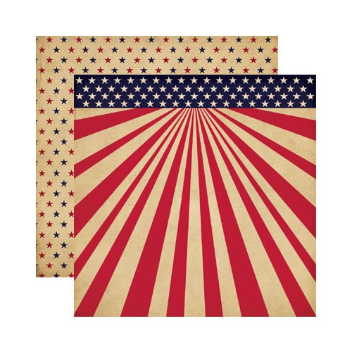 28068 Reminisce - Let Freedom Ring Collection - 12 x 12 Double Sided Paper - Let Freedom Ring.
