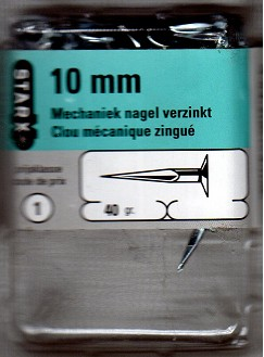 28179 Starx Mechaniek Nagel Verzinkt 10mm 40 Gram.