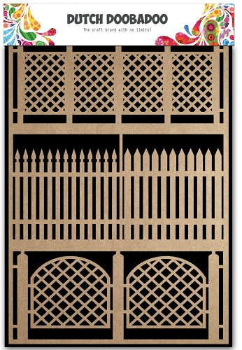 28238 Dutch Doobadoo Dutch Paper Art Kraft - Fences A5.