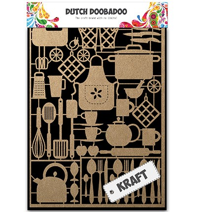 28653 Dutch Doobadoo Kraft - Kraftpapier Kitchenware.