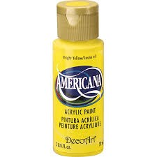 28713 Deco Art Americana Acrylverf 59 ML Bright Yellow (DA227).