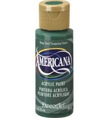28714 Deco Art Americana Acrylverf 59 ML Teal Green (DA107).