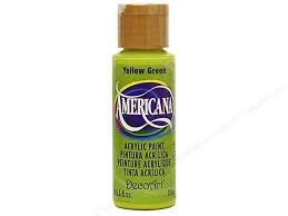 28717 Deco Art Americana Acrylverf 59 ML Yellow Green.
