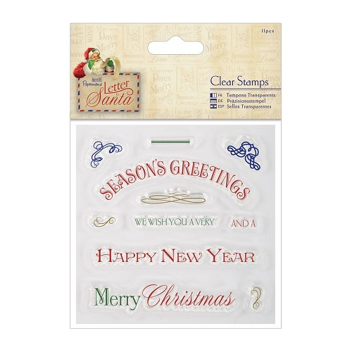 28734 4 x 4 Clear Stamps (11pcs) - Letter to Santa - Greetings.