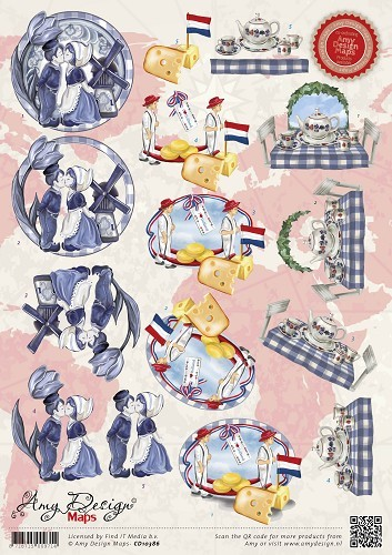 28846 (224) Amy Design Maps - Holland (CD10386).