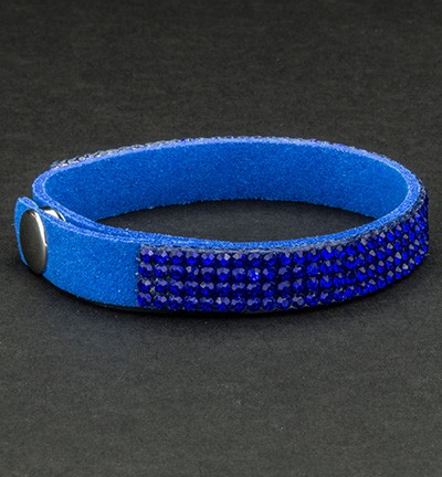 28877 Faux Suede Bracelet With Jewelry Royal Blue -0.9 x 21.5 cm (12325-2505).