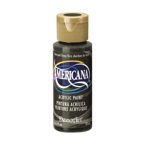 28893 Deco Art Americana Acrylverf 59 ML Charcoal Grey.