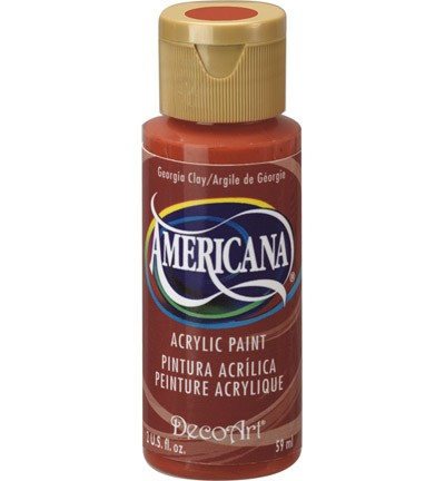 29161 Decoart Americana Acrylverf 59 ML Georgia Clay (DA017).