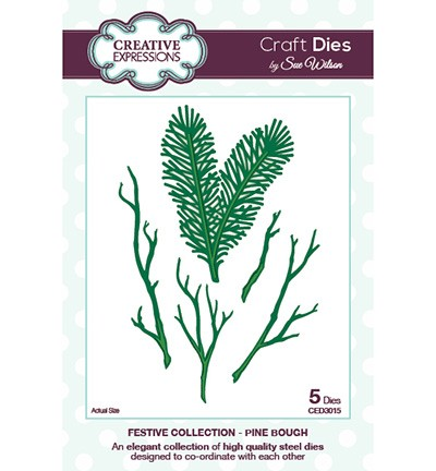 29564 Creative Expressions  Craft Dies - Pine Bough 88 x 60 mm.