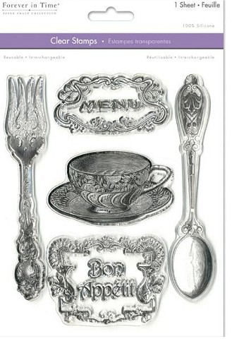 "29784 Multicraft Clear Stamps 5.5""X7"" Sheet Bon Appetit A5."