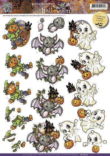 29932 (691) Yvonne Creations - Halloween - Cute Creatures (CD10409)..