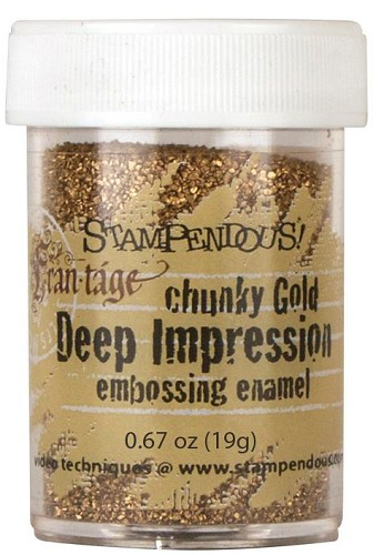 29978 Stampendous Deep Impression Embossing Enamel .63oz Chunky Gold.