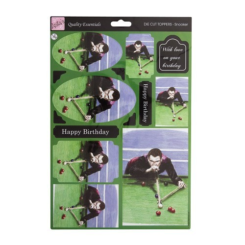 30167 A4 Die-cut toppers - Snooker.