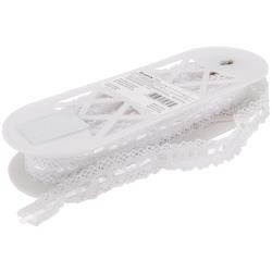 30313 Spider Cluny Lace White 32mm x 1 Meter.