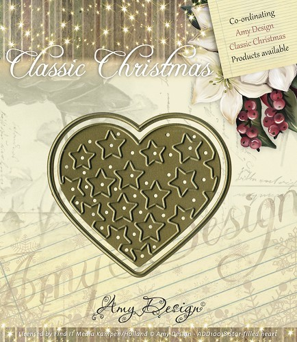30365 Die - Amy Design - Die - Classic Christmas - Star-Filled Heart (ADD10018).