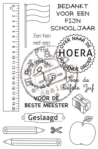 30503 Marianne Design Stempel School stamp - NL (CS0909).
