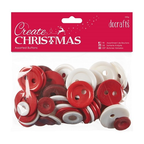 30534 Assorted Buttons (50g) - Nordic Christmas.