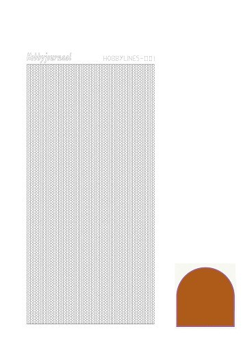 30549 Hobbylines Sticker - Mirror Brown.