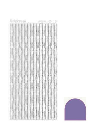 30559 Hobbylines Sticker -Serie 001-  Mirror Violet.
