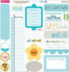 30959 Bella Boulevard Baby Boy Just Write Cardstock Stickers 12x12 Inch.