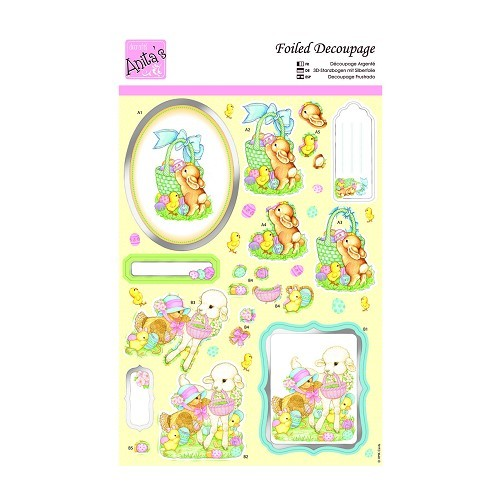 31291 Foiled Decoupage - Animal Friends.