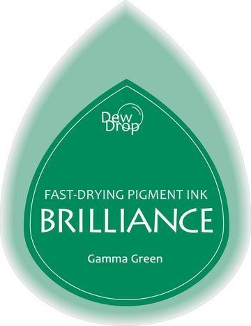 31334 Dew Drops Brilliance Inkpad Gamma Green.