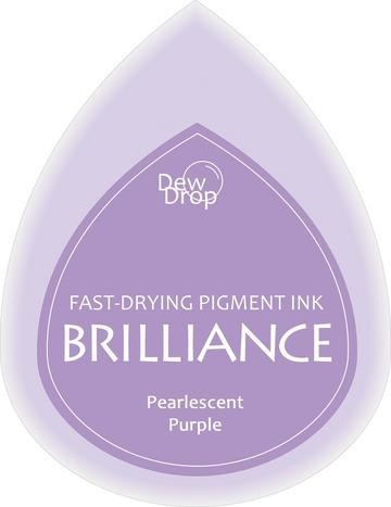 31337 Dew Drops Brilliance Inkpad Pearlescent Purple.