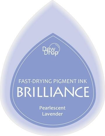 31338 Dew Drops Brilliance Inkpad Pearlescent Lavender.