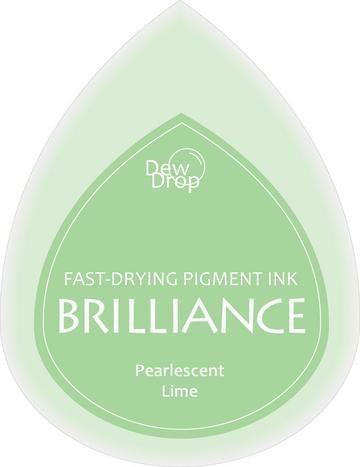 31340 Dew Drops Brilliance Inkpad Pearlescent Lime.