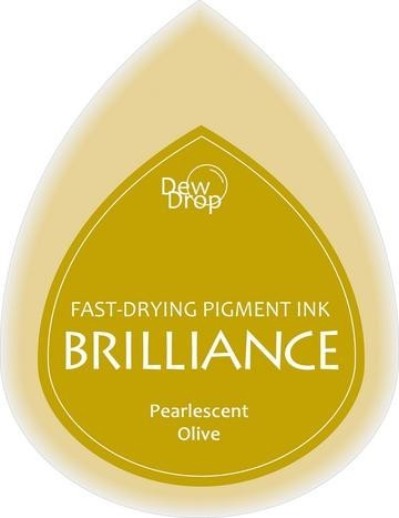 31341 Dew Drops Brilliance Inkpad Pearlescent Olive.