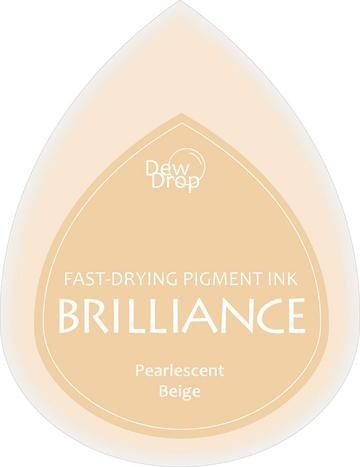 31343 Dew Drops Brilliance Inkpad Pearlescent Beige.
